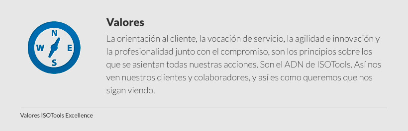 valores isotools excellence
